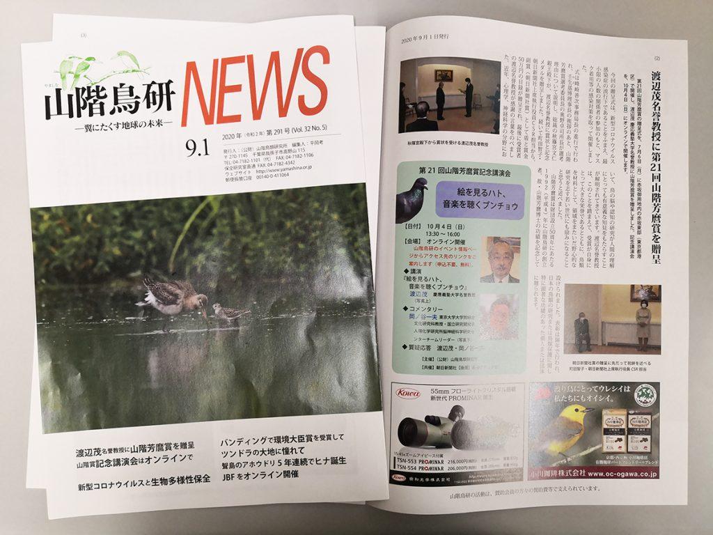 山階鳥研NEWS 9月号